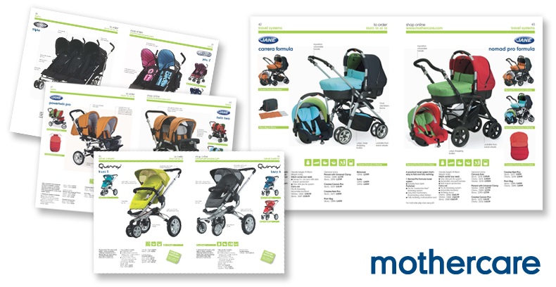 Mothercare Catalogue Design - Pushchairs