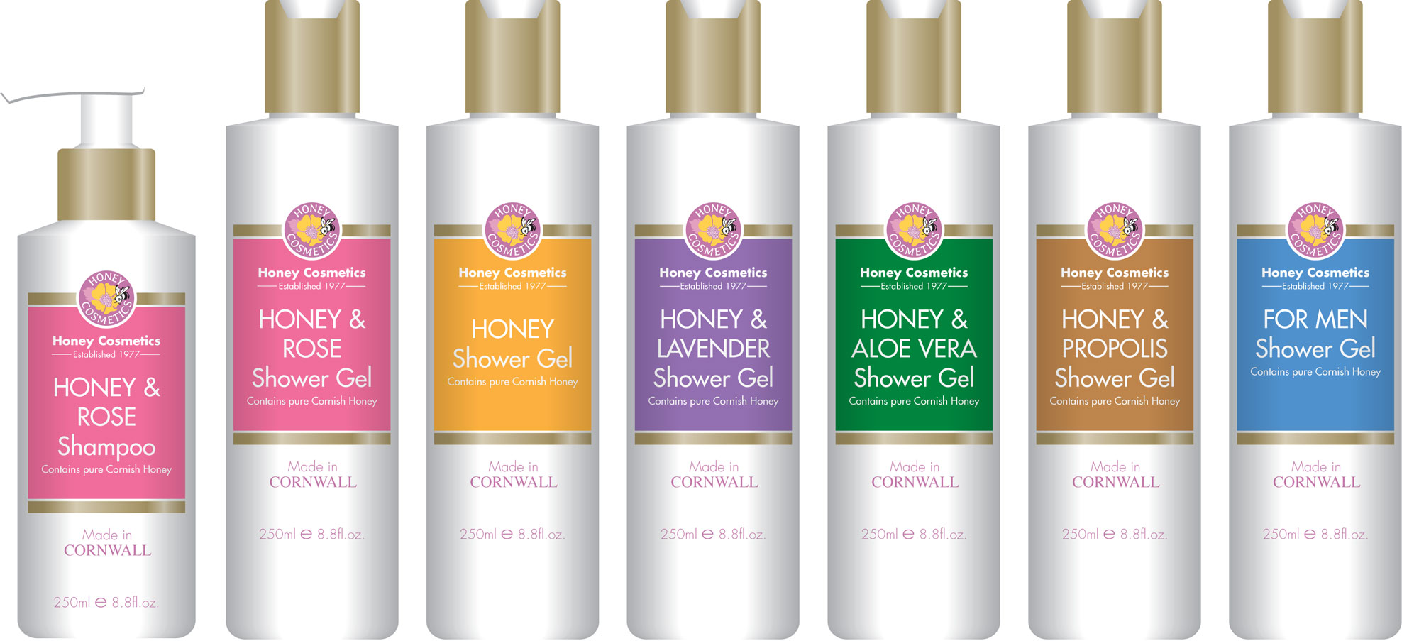 Honey Cosmetics Packaging Design