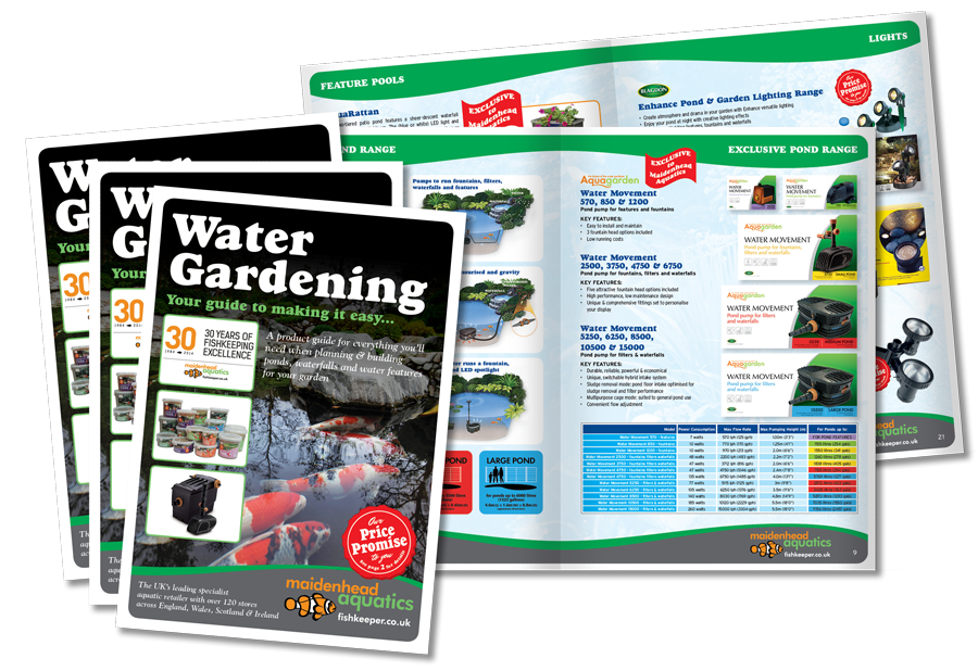 Water Gardening Aquatic Brochure Design