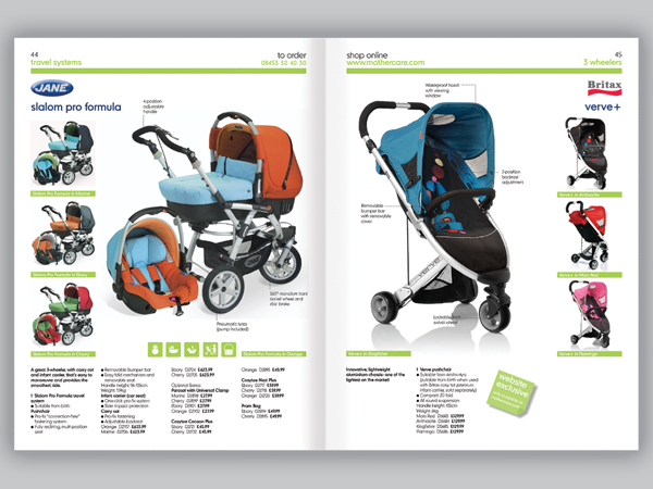 Mothercare Catalogue Design