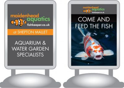 Maidenhead Aquatics Shepton Mallet Store Signage Design